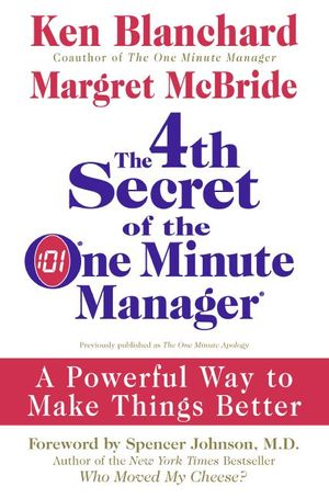 The 4th Secret of the One Minute Manager book image