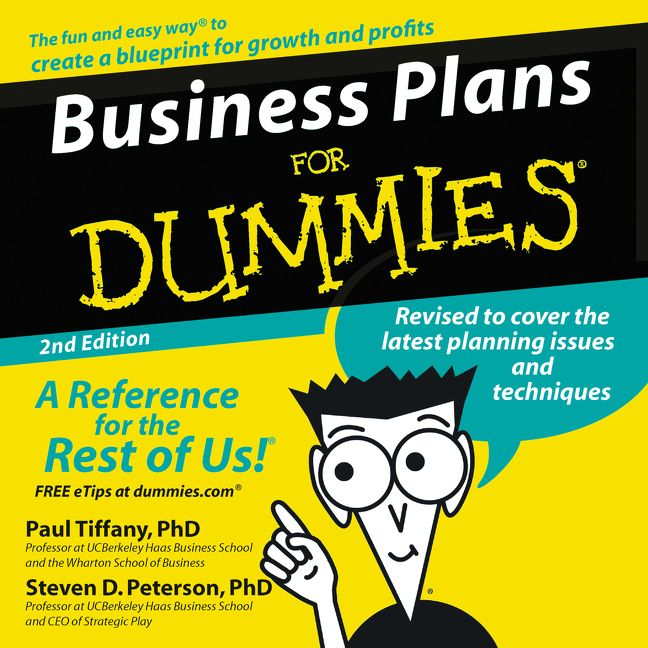 Business Plans For Dummies 2nd Ed Paul Tiffany Steven