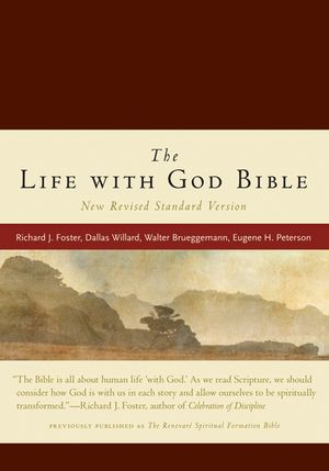 Life with God Bible NRSV, The (Compact, Ital Leath, Burgundy) book image