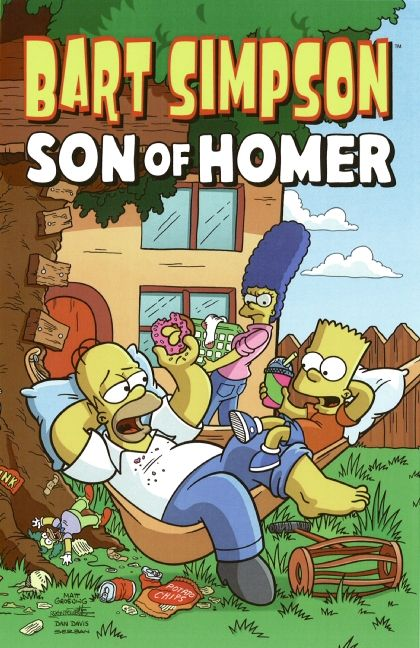 Bart simpson son of homer matt groening paperback enlarge book cover fandeluxe Image collections