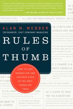 Book cover image: Rules of Thumb: How to Stay Productive and Inspired Even in the Most Turbulent Times