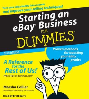 Starting an E-Bay Business for Dummies book image