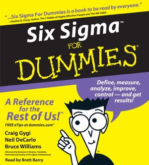 Six Sigma For Dummies book image