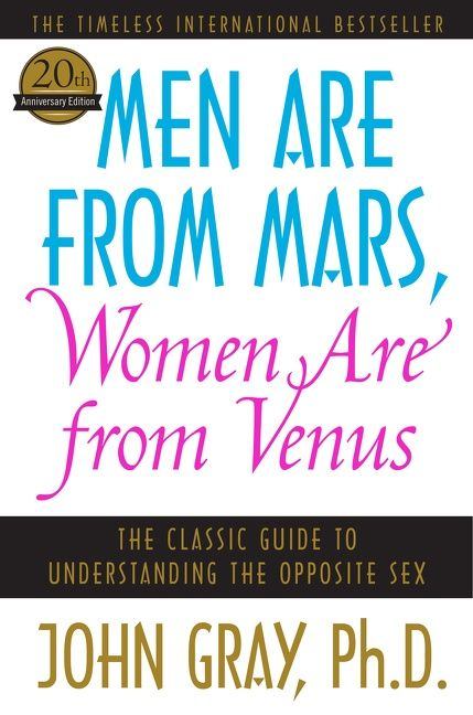 AUDRA: Man from mars women from venus book