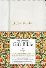 NRSV - The Catholic Gift Bible (White, Imitation Leather)