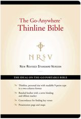 NRSV - The Go-Anywhere Thinline Bible (Bonded Leather, Black)