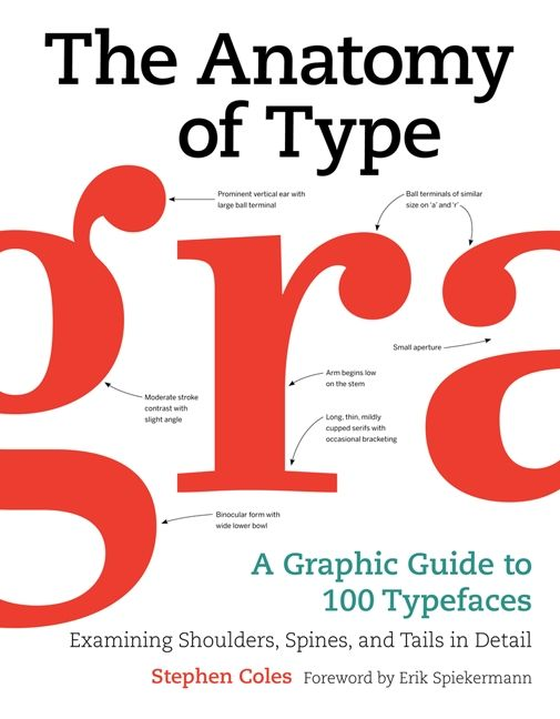 The Anatomy Of Type Stephen Coles Hardcover