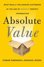 Absolute Value Hardcover  by Itamar Simonson