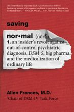 Saving Normal Paperback  by Allen Frances
