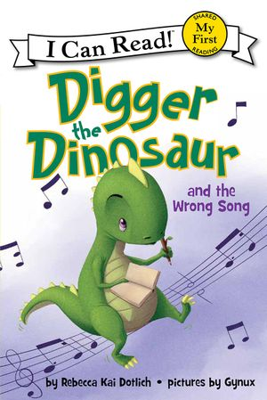Digger the Dinosaur and the Wrong Song book image