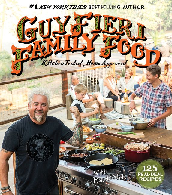 Guy fieri family food guy fieri hardcover enlarge book cover forumfinder Image collections