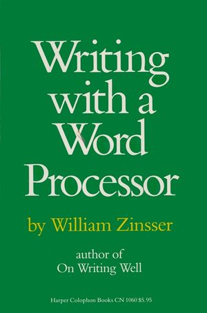 Writing with a Word Processor book image