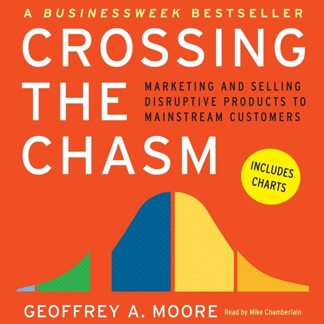 Book cover image: Crossing the Chasm: Marketing and Selling Technology Projects to Mainstream Customers | BusinessWeek Bestseller