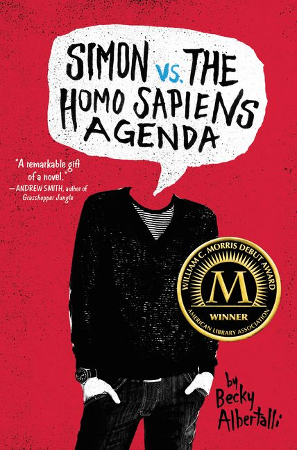Simon vs the Homo Sapiens Agenda by Becky Albertalli -  The 29 Best YA Book Covers of 2015 as Chosen by Epic Reads Designers