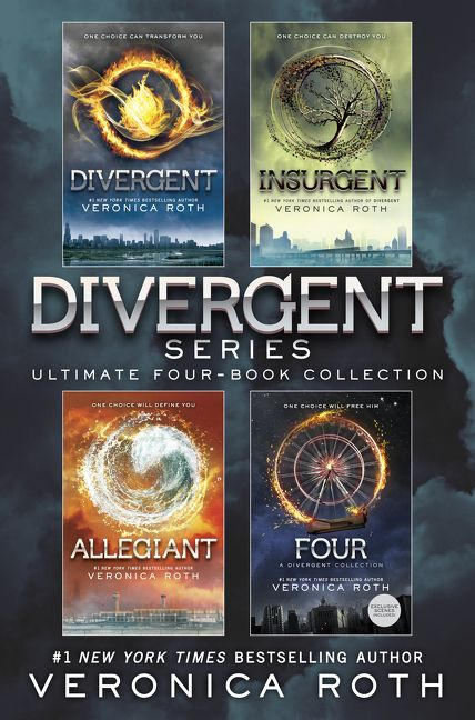 Book Cover Series Books ~ Divergent series ultimate four book collection veronica