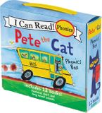 Pete the Cat 12-Book Phonics Fun! Paperback  by James Dean