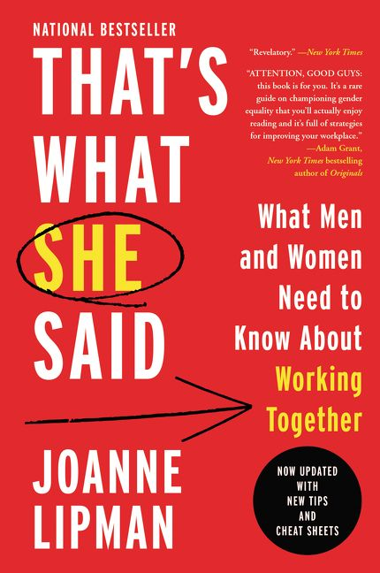 Thats what she said joanne lipman e book enlarge book cover author interview fandeluxe Gallery