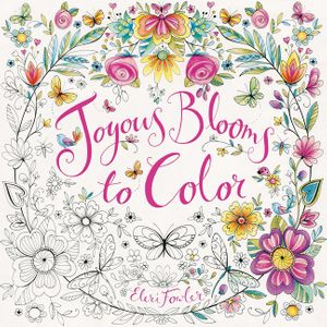 Joyous Blooms to Color book image