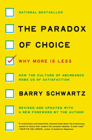 The Paradox of Choice book image