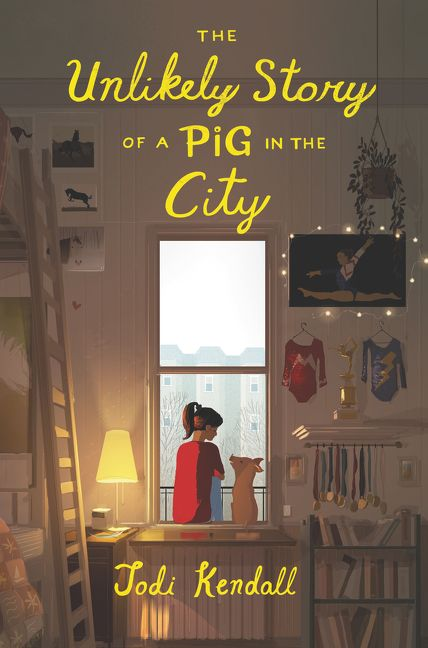 The Unlikely Story of a Pig in the City - Jodi Kendall - Hardcover