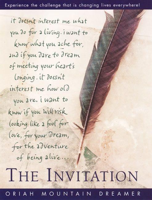 the invitation oriah hardcover