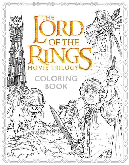 The Lord of the Rings Movie Trilogy Coloring Book - Warner ...