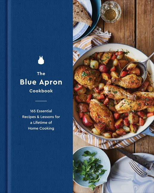 Book cover image: The Blue Apron Cookbook: 165 Essential Recipes and Lessons for a Lifetime of Home Cooking