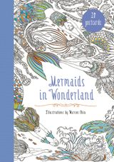 Mermaids in Wonderland 20 Postcards