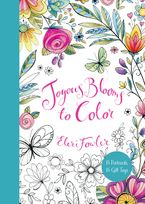 Joyous Blooms to Color: 15 Postcards, 15 Gift Tags Paperback  by Eleri Fowler
