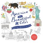 America the Beautiful to Color Paperback  by Zoe Ingram