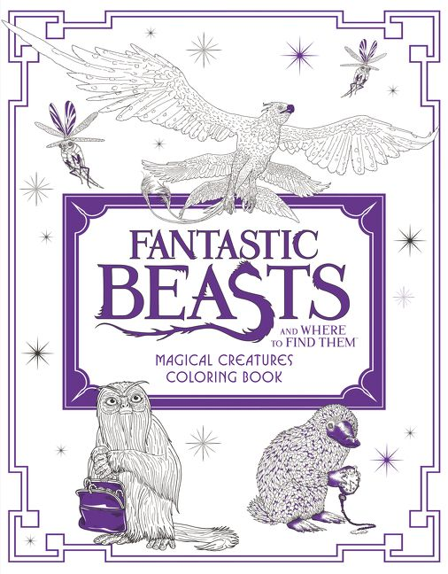 Fantastic Beasts And Where To Find Them Magical Creatures Coloring