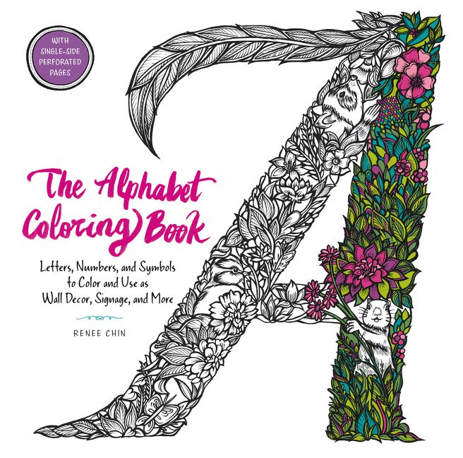 The Alphabet Coloring Book Renee Chin Paperback