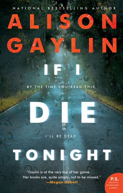 e08016c095a16 If I Die Tonight - Alison Gaylin - Hardcover
