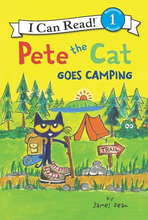 Pete the Cat Goes Camping book image