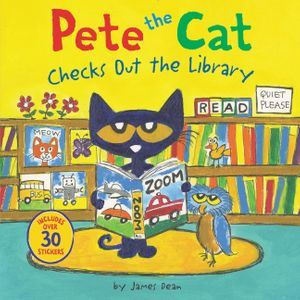 Pete the Cat Checks Out the Library book image