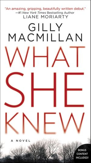 What she knew gilly macmillan paperback fandeluxe Choice Image