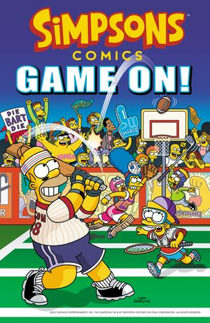 Simpsons Comics Game On! book image
