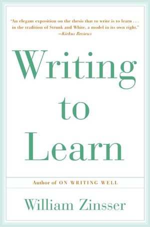 WRITING TO LEARN RC book image