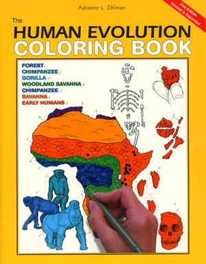 The Human Evolution Coloring Book, 2nd Edition book image