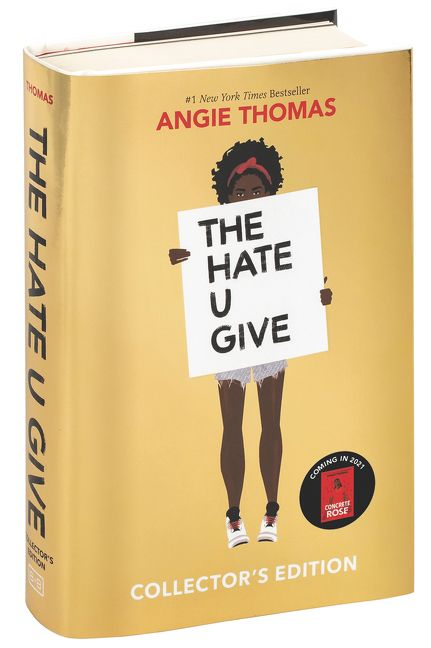 Image result for the hate u give gold book cover