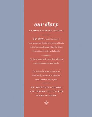 Our Story: A Family Keepsake Journal Hardcover  by No Author