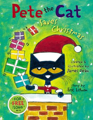 Pete the Cat Saves Christmas book image