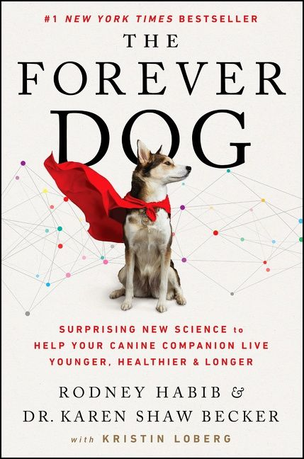 Book cover image: The Forever Dog: Surprising New Science to Help Your Canine Companion Live Younger, Healthier, and Longer