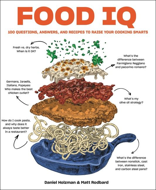 Book cover image: Food IQ: 100 Questions, Answers, and Recipes to Raise Your Cooking Smarts