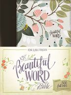KJV Beautiful Word Bible, Red Letter Edition: 500 Full-color IllustratedVerses [Multi-color Floral Cloth] - Zondervan,