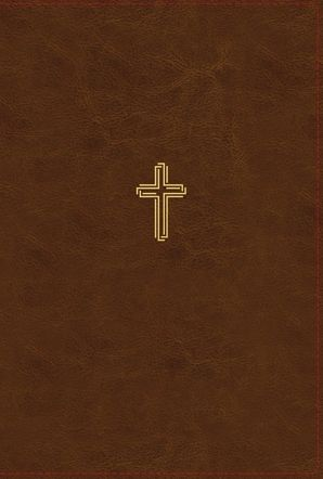 NASB, Thinline Bible, Large Print, Leathersoft, Brown, Red Letter Edition, 1995 Text, Comfort Print Hardcover  by No Author