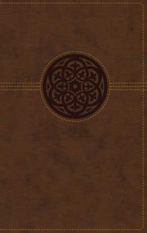 NRSV, Thinline Reference Bible, Leathersoft, Brown, Indexed, Comfort Print Hardcover  by No Author