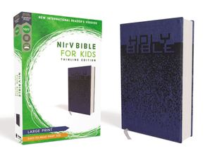 NIrV, Bible for Kids, Large Print, Leathersoft, Blue, Comfort Print: Thinline Edition Hardcover  by No Author