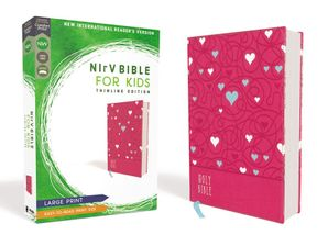 NIrV, Bible for Kids, Large Print, Leathersoft, Pink, Comfort Print: Thinline Edition Hardcover  by No Author
