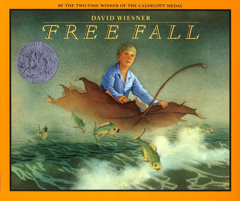 Children S Book Covers Without Titles : Free fall david wiesner paperback